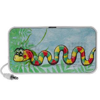 Niedlicher Schlangengekritzel-Lautsprecher Notebook Speaker