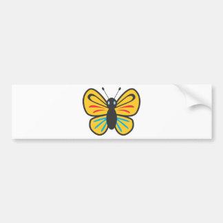 Niedlicher Schmetterlings-Monarch-Cartoon Autoaufkleber