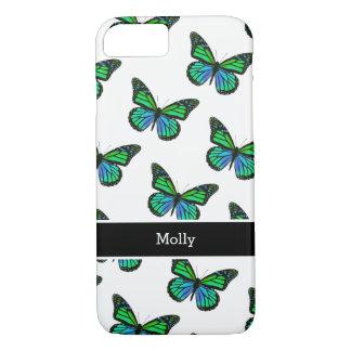 Niedlicher Schmetterlings-Monogramm-Entwurf iPhone 8/7 Hülle