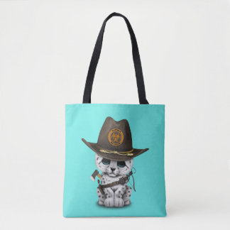 Niedlicher Schnee-Leopard-CUB-Zombie-Jäger Tasche
