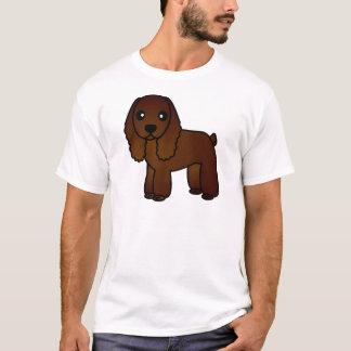 Niedlicher Schokoladen-Cockerspaniel-Cartoon T-Shirt