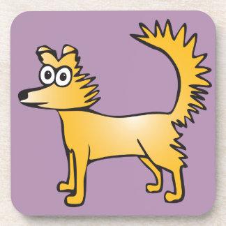 Niedlicher schrulliger Cartoonhund Getränkeuntersetzer