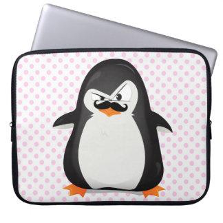 Niedlicher Schwarz-weißer Penguin und lustiger Sch Laptop Sleeve Schutzhülle