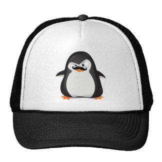 Niedlicher Schwarz-weißer Penguin und lustiger Sch Retrokappe