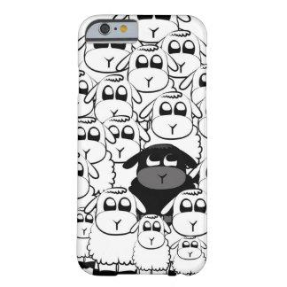 Niedlicher schwarze Schafe iPhone 6 Kasten Barely There iPhone 6 Hülle