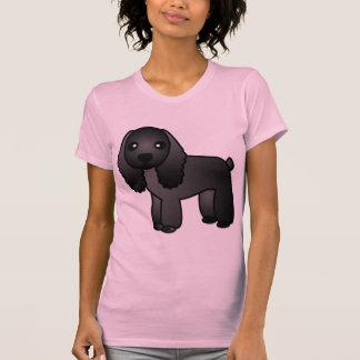 Niedlicher schwarzer Cockerspaniel-Cartoon T-Shirt