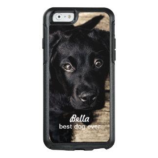 Niedlicher schwarzer Labrador-Welpen-Hund Ihr Foto OtterBox iPhone 6/6s Hülle