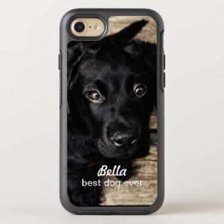 Niedlicher schwarzer Labrador-Welpen-Hund Ihr Foto OtterBox Symmetry iPhone 8/7 Hülle