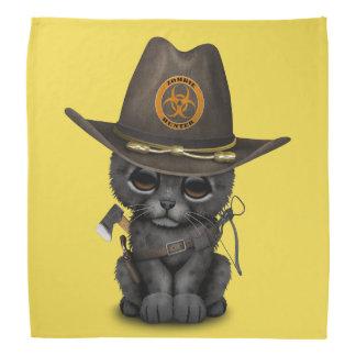 Niedlicher schwarzer Panther-CUB-Zombie-Jäger Kopftuch