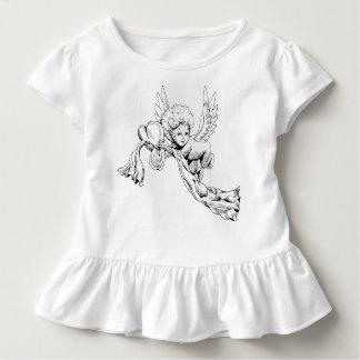 Niedlicher Schwarzweiss-Engel mit Herzen Kleinkind T-shirt
