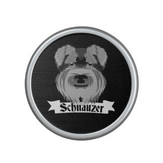 Niedlicher Schwarzweiss-Schnauzer Bluetooth Lautsprecher