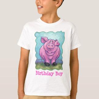 Niedlicher Schwein-Geburtstags-Junge T-Shirt