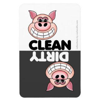 Niedlicher Schwein-Spülmaschinen-Magnet Vinyl Magnete