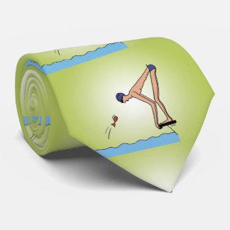Niedlicher Schwimmenmeister Individuelle Krawatte