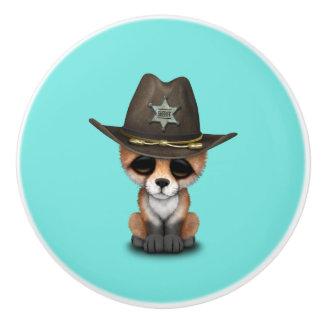 Niedlicher Sheriff BabyFox CUB Keramikknauf
