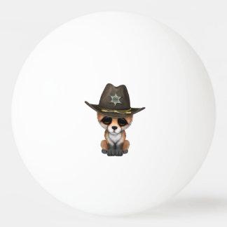 Niedlicher Sheriff BabyFox CUB Ping-Pong Ball