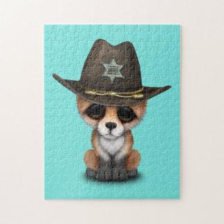 Niedlicher Sheriff BabyFox CUB Puzzle