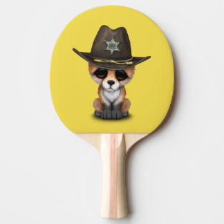 Niedlicher Sheriff BabyFox CUB Tischtennis Schläger