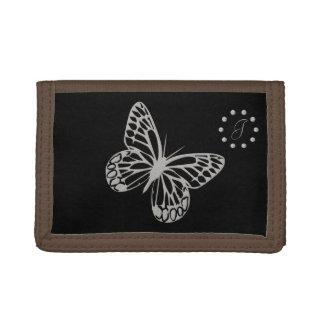 Niedlicher silberner Schmetterlings-mit Monogramm
