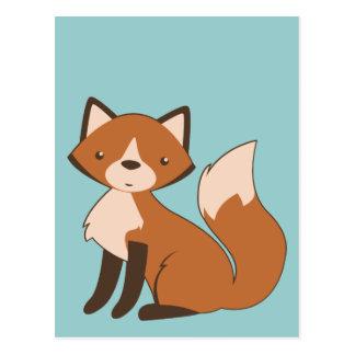 Niedlicher sitzender Fox Postkarte
