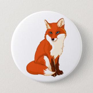 Niedlicher sitzender Knopf Fox Runder Button 7,6 Cm
