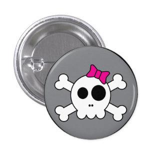 Niedlicher Skully Knopf Runder Button 2,5 Cm