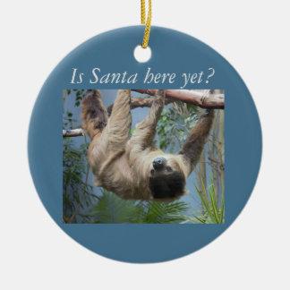 Niedlicher Sloth Keramik Ornament