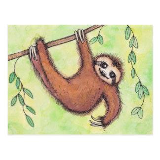 Niedlicher Sloth Postkarten