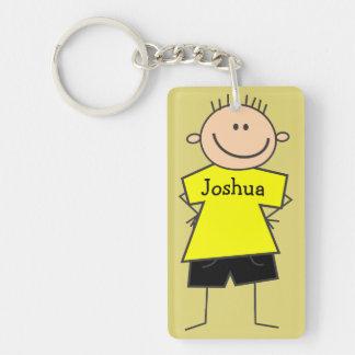 Niedlicher smiley-Jungen-Entwurfs-personalisierte Schlüsselanhänger