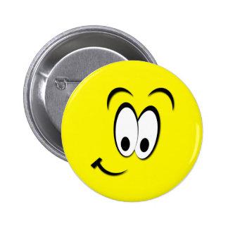NIEDLICHER SMILEY RUNDER BUTTON 5,7 CM