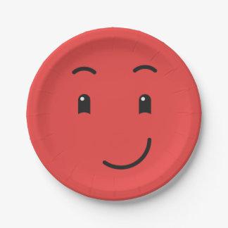 Niedlicher smileypapier-Teller 1/9 Pappteller