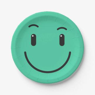 Niedlicher smileypapier-Teller 2/9 Pappteller