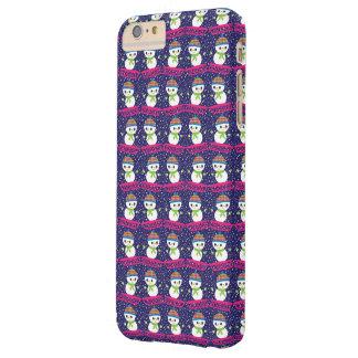 Niedlicher Snowman auf Sleigh mit Barely There iPhone 6 Plus Hülle
