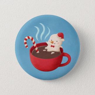 Niedlicher Snowman im heiße Runder Button 5,1 Cm