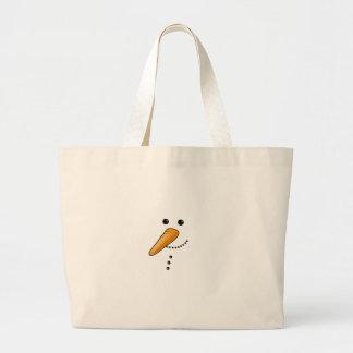 Niedlicher Snowman Jumbo Stoffbeutel