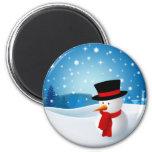 Niedlicher Snowman-Magnet Kühlschrankmagnet