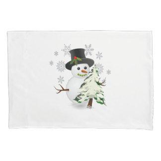 Niedlicher Snowman mit Kissen Bezug