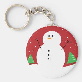 Niedlicher Snowman Schlüsselanhänger