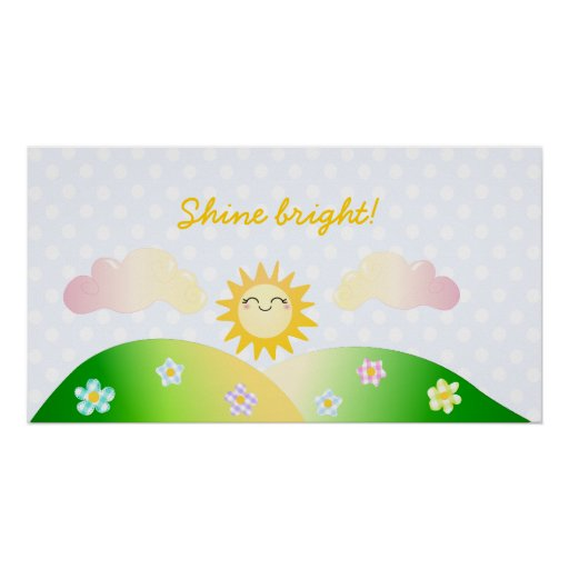 Niedlicher Sonne kawaii Cartoon Plakate
