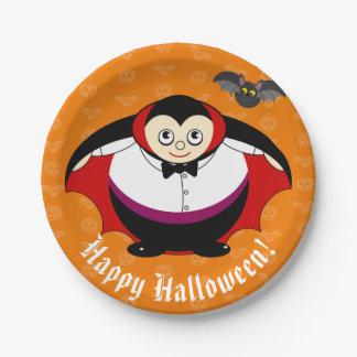 Niedlicher Spaß-Cartoon einer Halloween-Zählung Pappteller