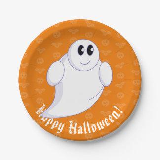 Niedlicher Spaß-Cartoon eines Halloween Geistes Pappteller