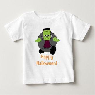 Niedlicher Spaß-Cartoon von einem grünen Halloween Baby T-shirt