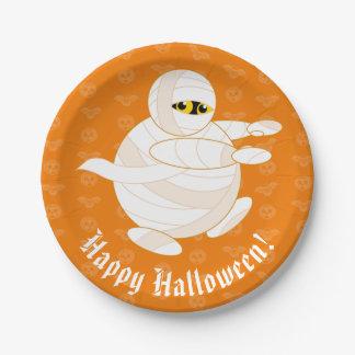 Niedlicher Spaß-Cartoon von einem Halloween Pappteller