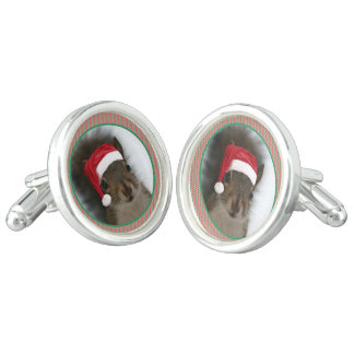 Niedlicher Spaß-lustiges Weihnachten Sankt Manschettenknöpfe