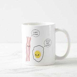 Niedlicher Speck-und Ei-Cartoon Kaffeetasse