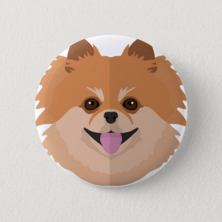 Niedlicher Spitz-Cartoon! Runder Button 5,7 Cm