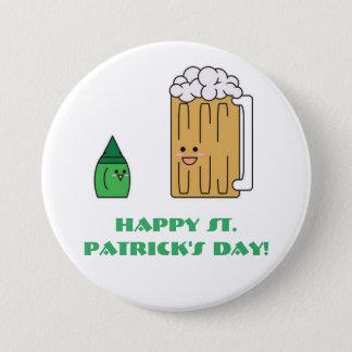 Niedlicher St Patrick Tagesknopf Runder Button 7,6 Cm