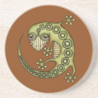 Niedlicher Stammes- grüner Gecko Sandstein Untersetzer