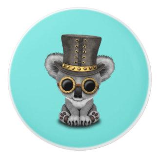 Niedlicher Steampunk Baby-Koala-Bär Keramikknauf