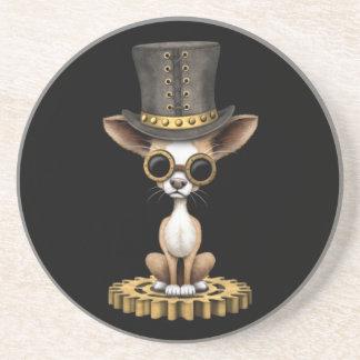 Niedlicher Steampunk Chihuahua-Welpen-Hund, Getränke Untersetzer